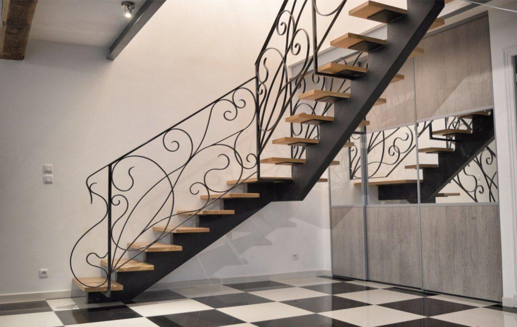 Rampes d\'escalier et Garde-corps en fer forgé – L\'Art de Faire